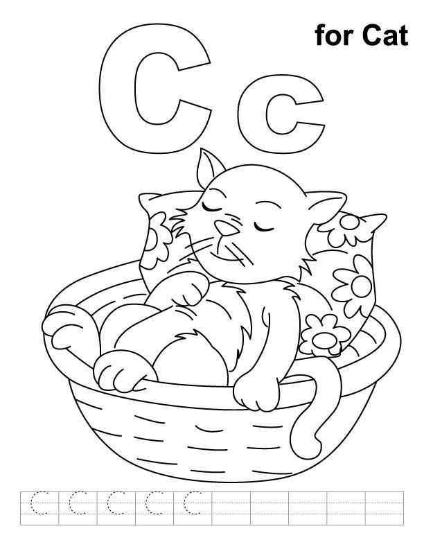 C Coloring Sheet