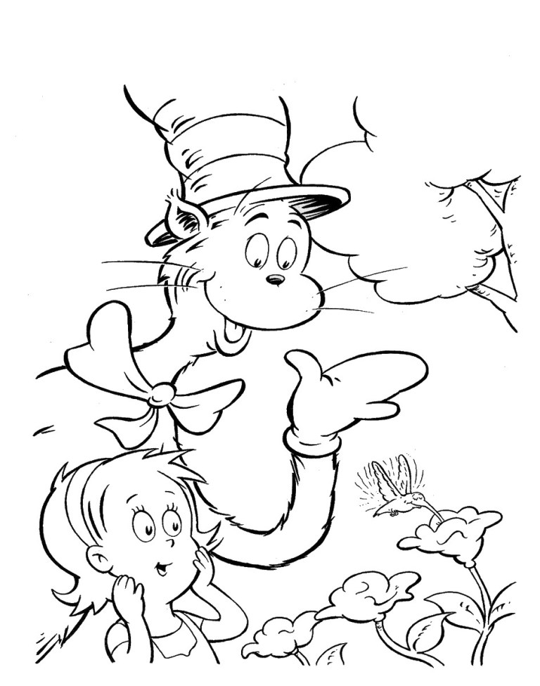 Cat In The Hat Coloring Books