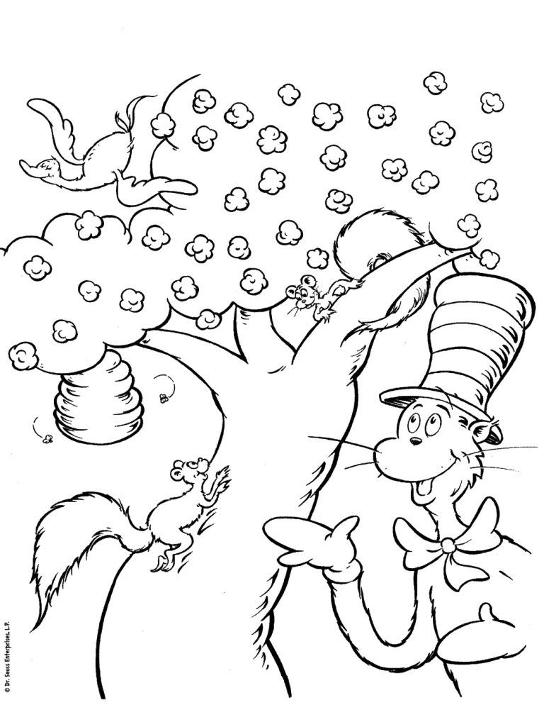 Cat In The Hat Pictures To Print Free