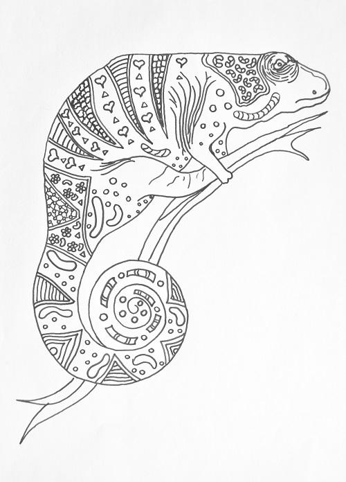 Chameleon Printable Template
