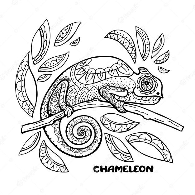 Chameleon Printable