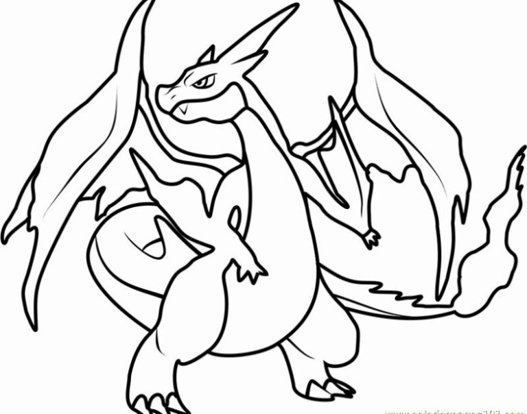 Charizard X Coloring Page