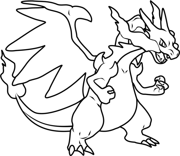 Charzard Coloring Page