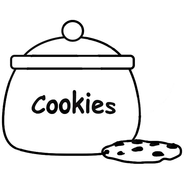 Christmas Cookie Coloring Sheet