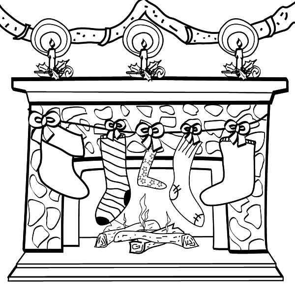 Christmas Stockings Coloring Pages Printables