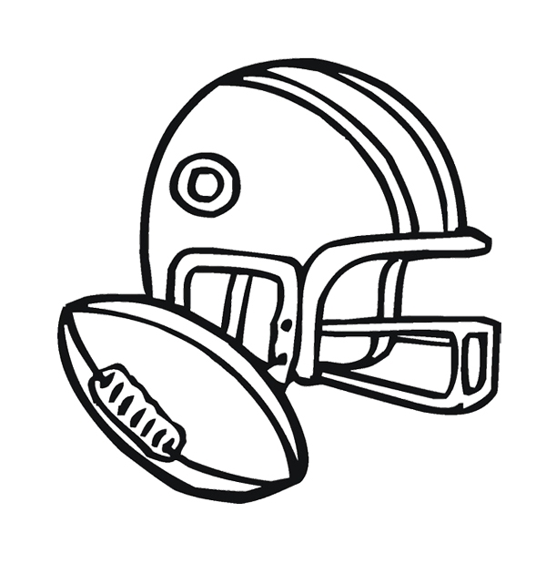 Coloring Pages Of Football Helmets
