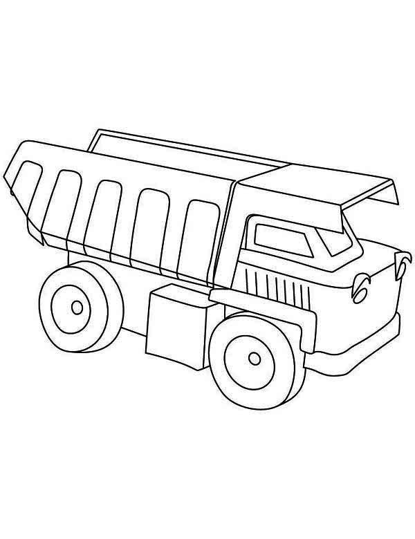 Construction Truck Coloring Page