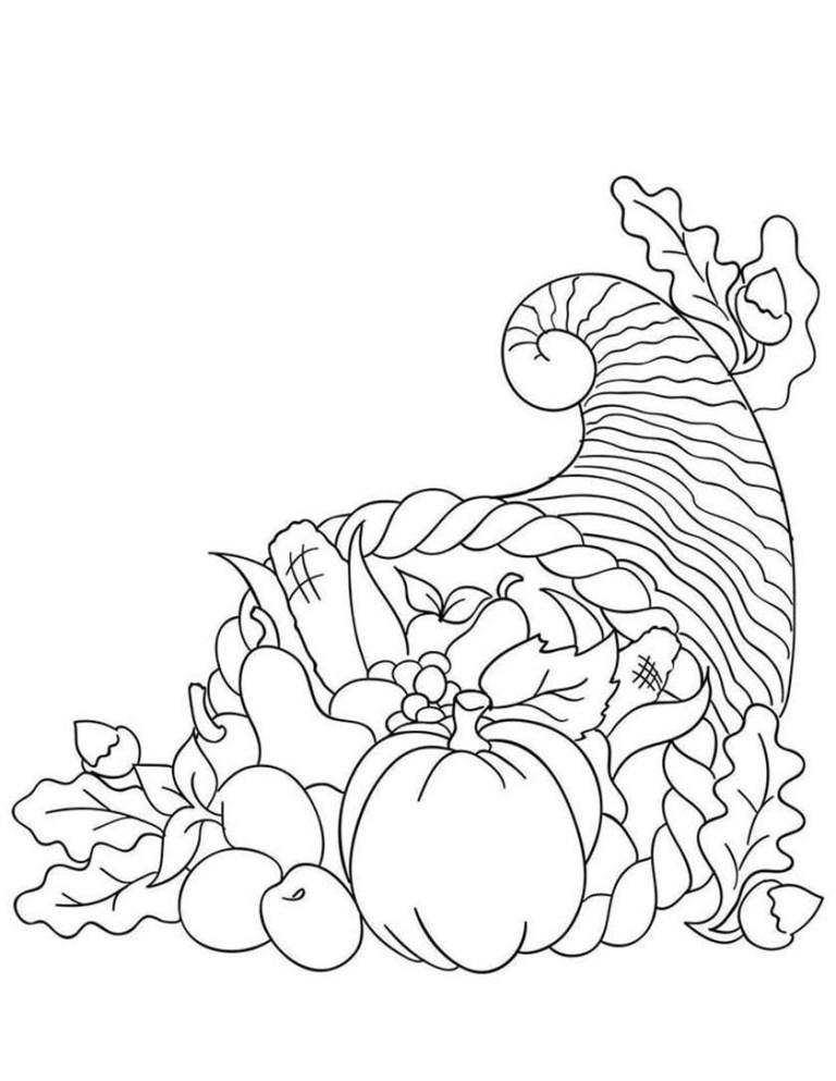 Cornocopia Coloring Page To Print