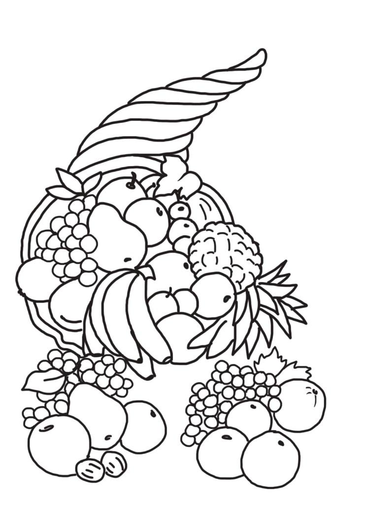 Cornucopia Printable Coloring Pages