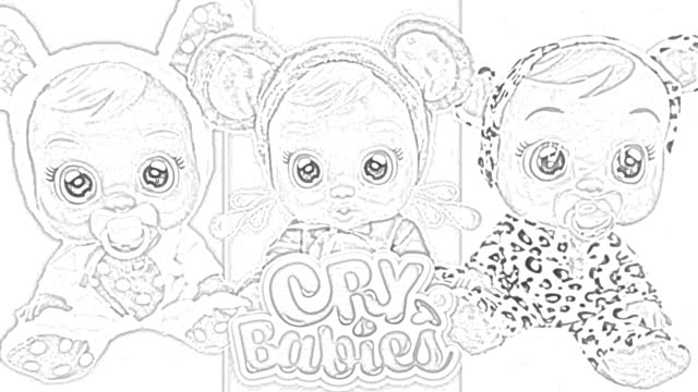 Cry Baby Coloring