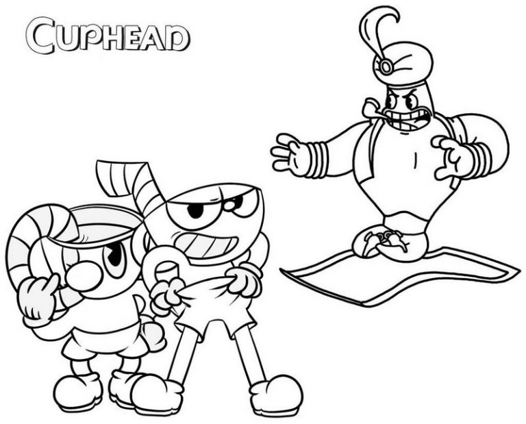 Cuphead Coloring Pages Printable