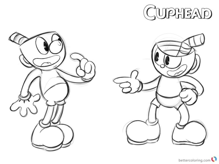 Cuphead Printable Coloring Pages