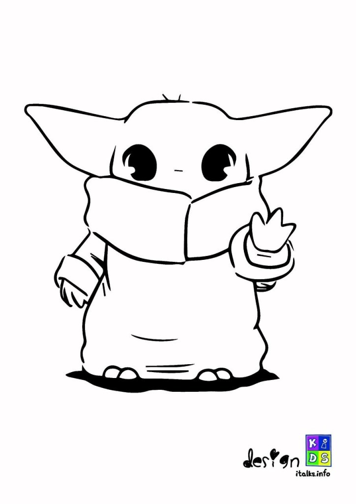 Cute Baby Yoda Coloring Pages