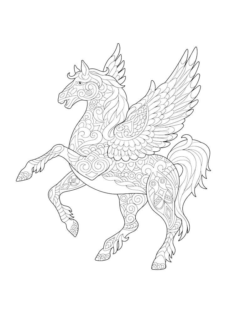 Cute Pegasus Coloring Pages