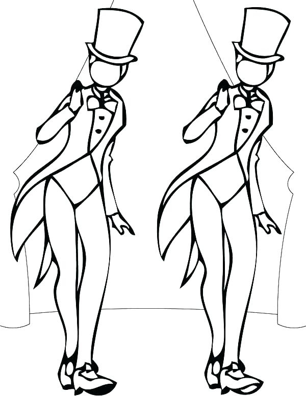 Dance Colouring Sheets