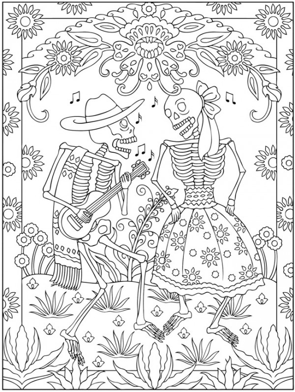 Day Of Dead Colouring