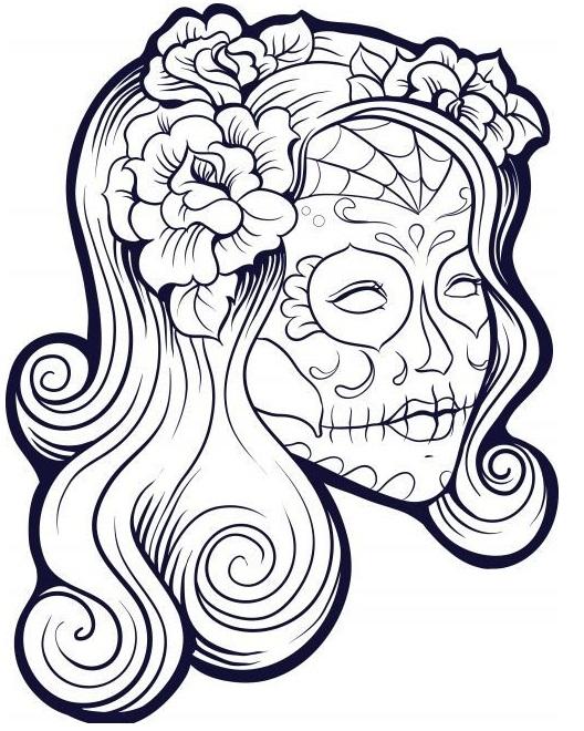 Dia De Los Muertos Coloring Pages For Kids