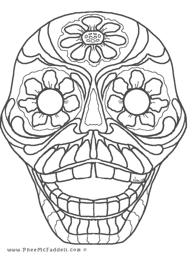 Dia De Los Muertos Coloring Pages Printable Free