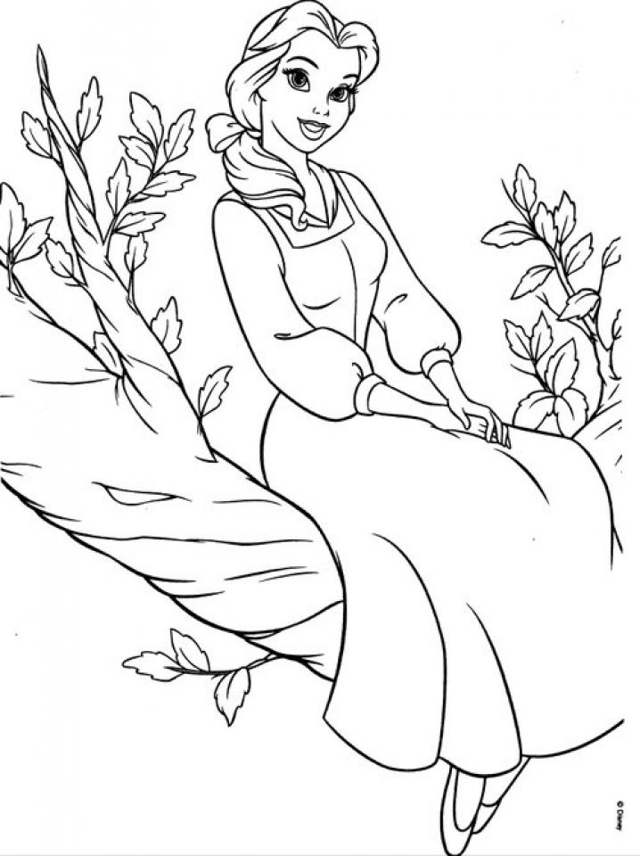Disney Belle Coloring Pages