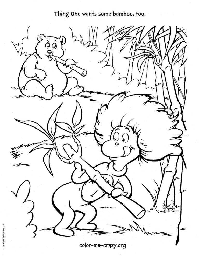 Dr.Seuss Coloring Pages Cat In The Hat
