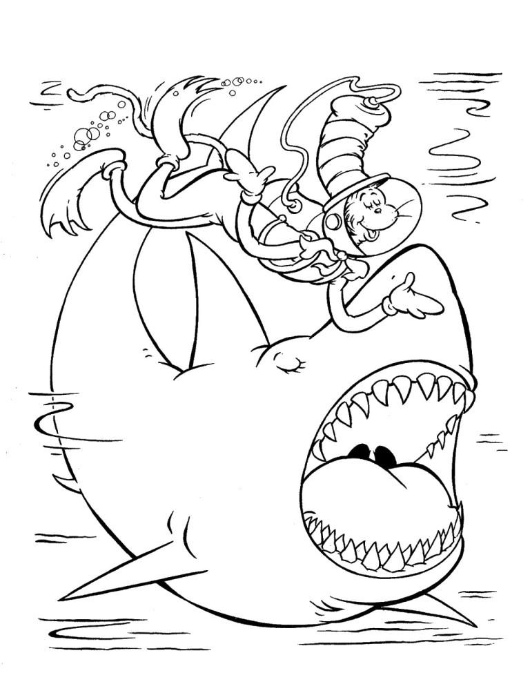 Dr. Seuss Hat Coloring Pages