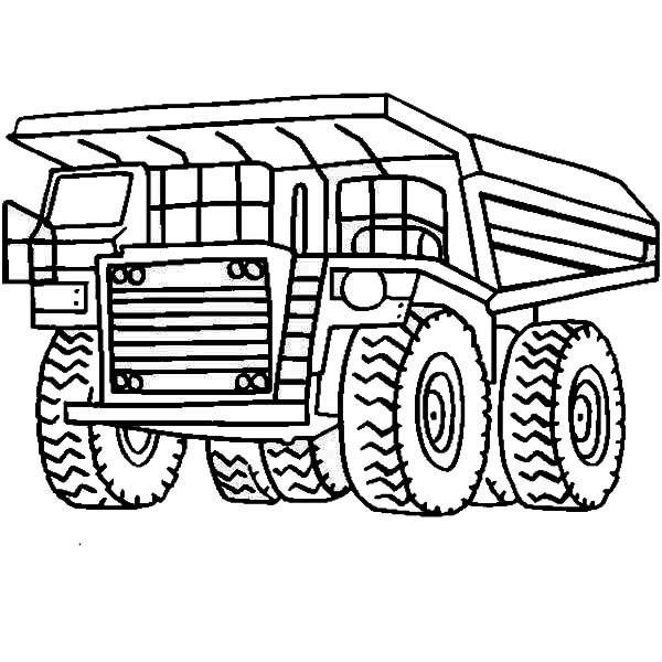 Dump Truck Coloring Page to Color Online