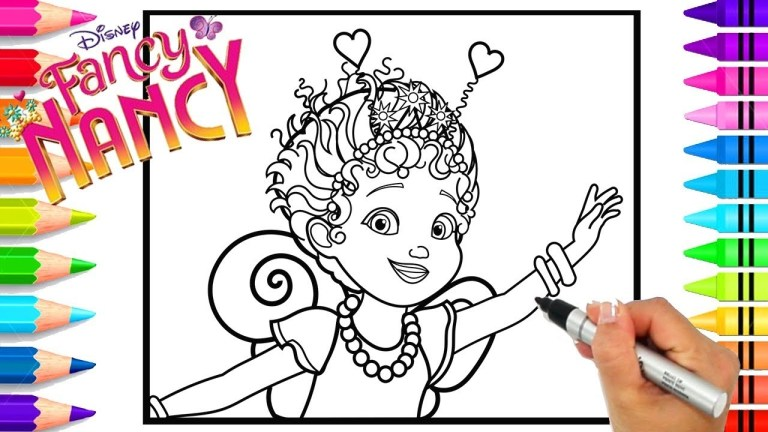 Fancy Nancy Coloring Pages Printable