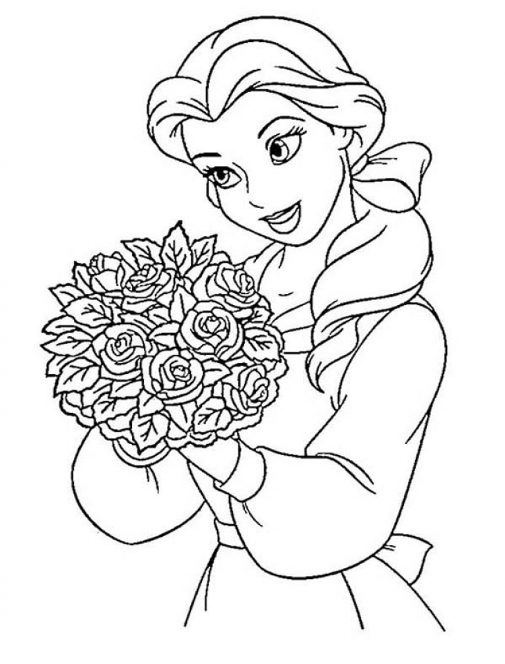 Free Belle Princess Coloring Page