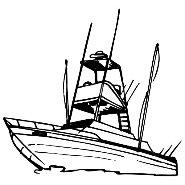 Free Coloring Pages Boats