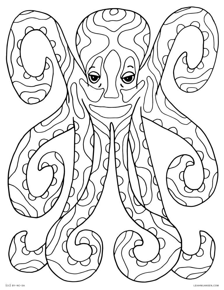 Free Coloring Pages Octopus