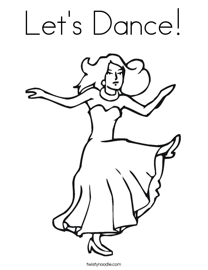 Free Dance Coloring Pages