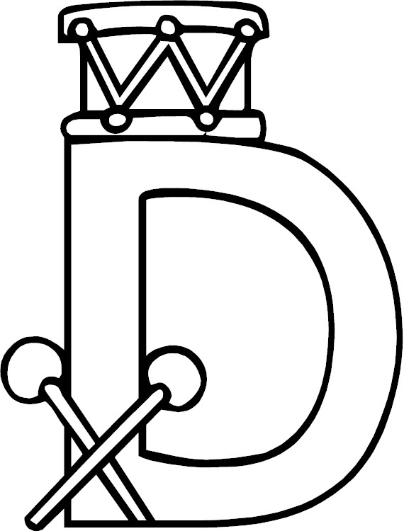 Free Letter D Coloring Pages