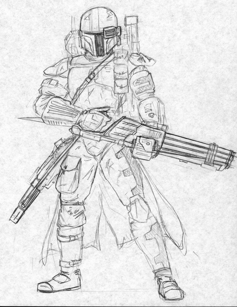 free mandalorian heavy gunner kuk man on deviantart