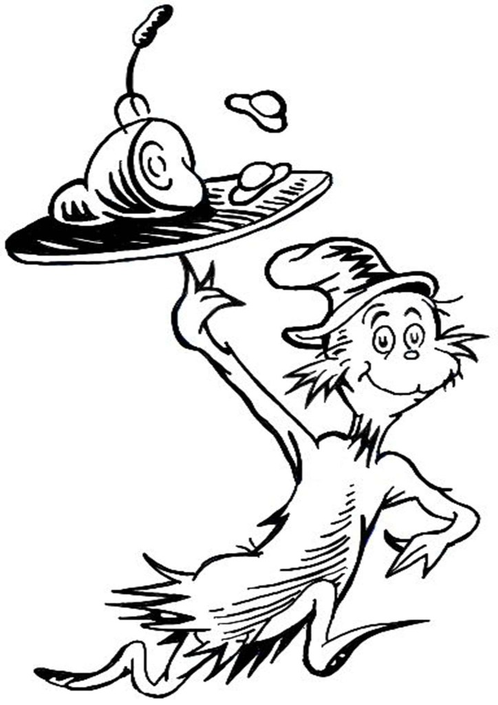 Free Printable Cat In The Hat Coloring Pages