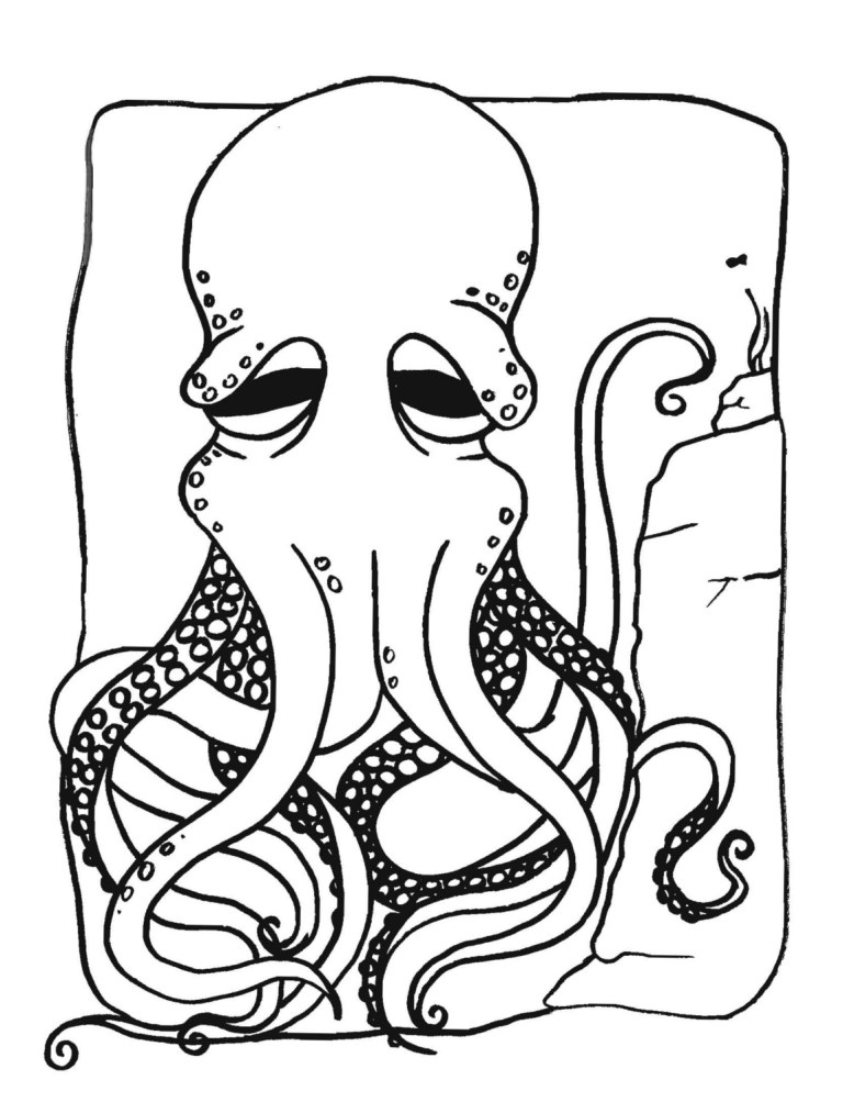 Free Printable Octopus Coloring Pages