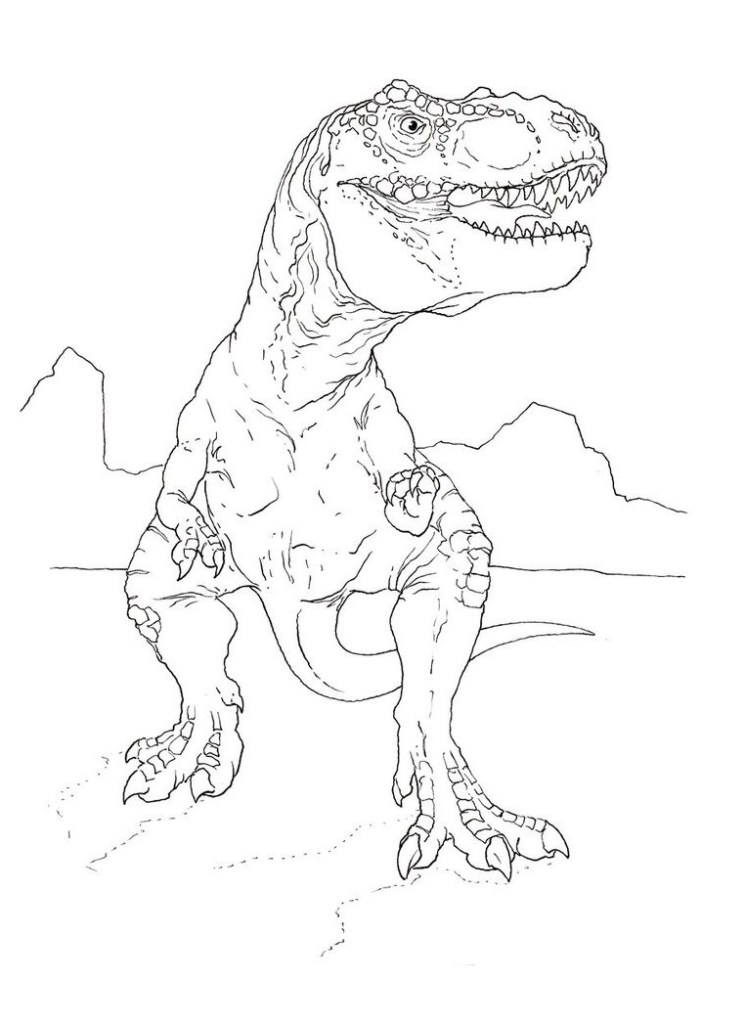Free Velociraptor Colouring Pages