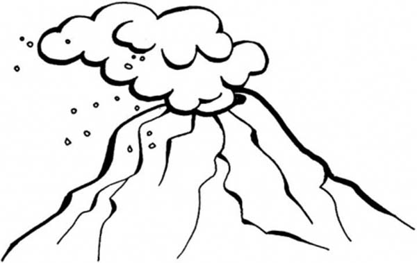 freef volcano eruption coloring pages