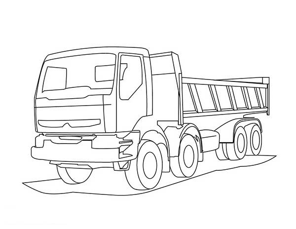 Garbage Truck Coloring Picture