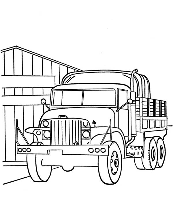Garbage Truck Pictures To Color