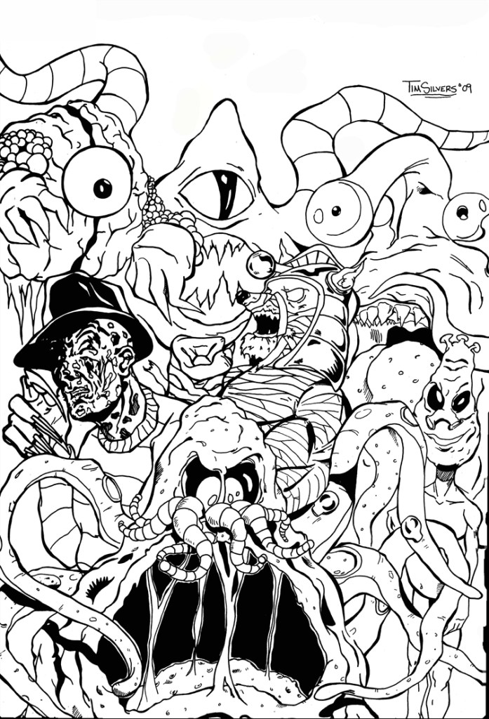 Ghostbuster Coloring Page