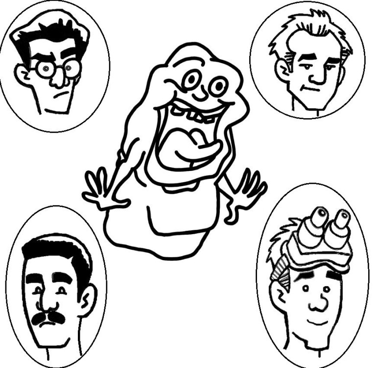 Ghostbusters Coloring Pages Printable