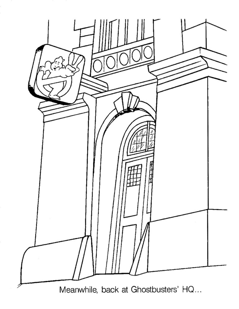 Ghostbusters Printable Coloring Pages