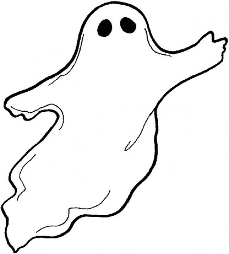 Ghosts Coloring Pages