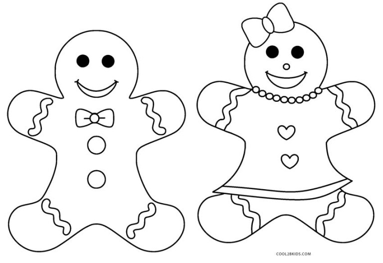 Gingerbread Coloring Pages Printable