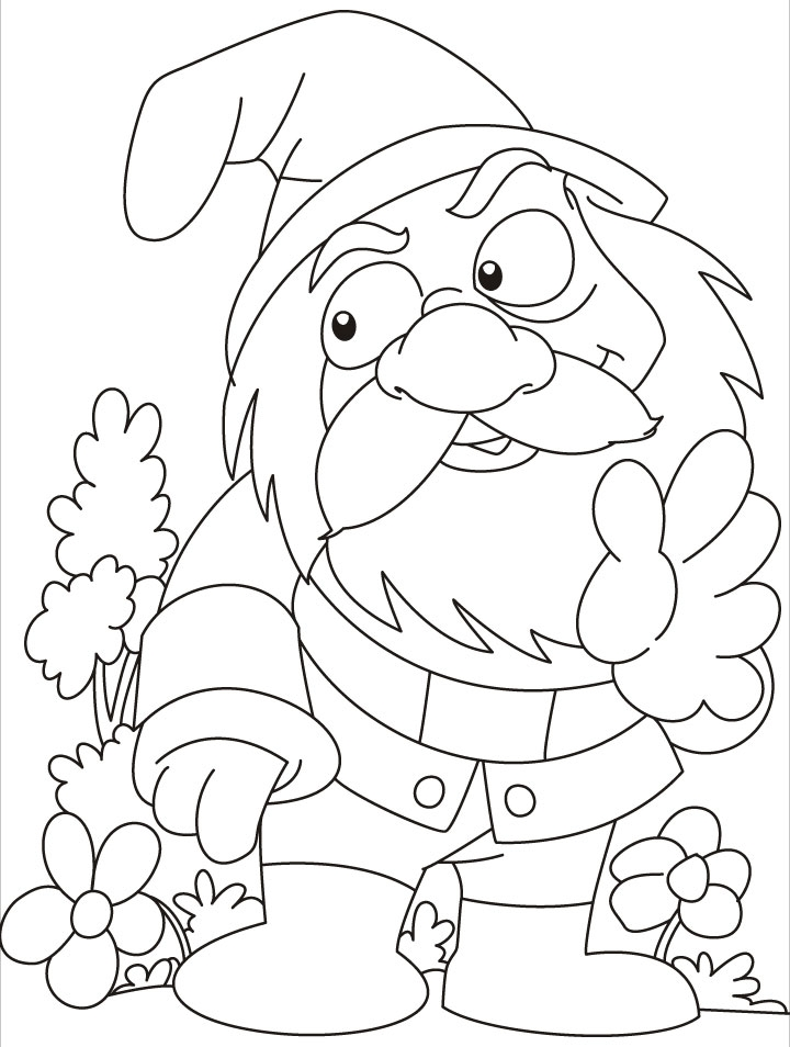 Girl Gnome Coloring Pages