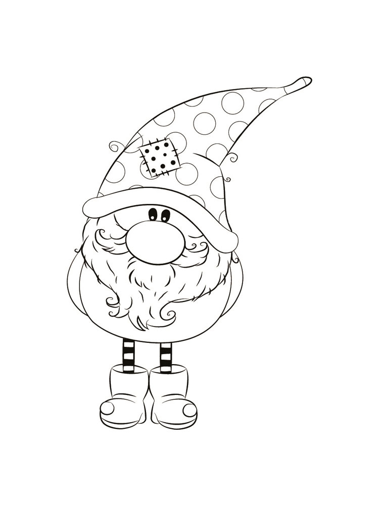 Gnomes Coloring Pages
