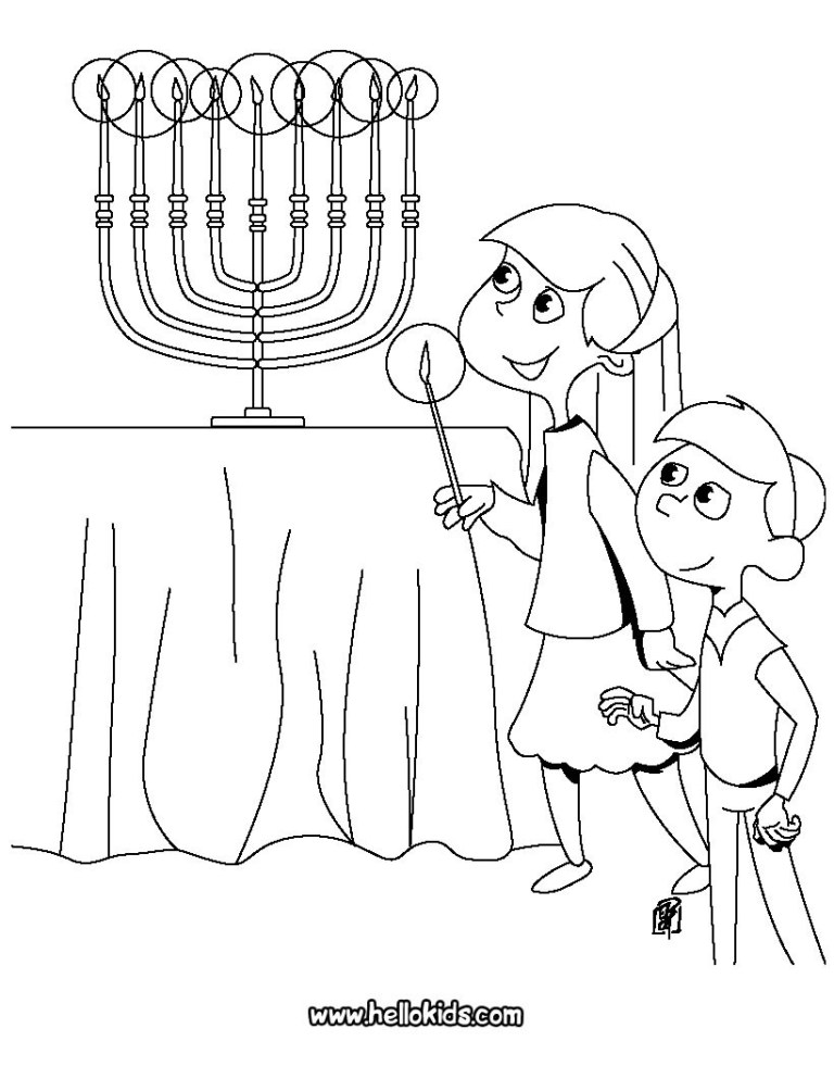 hanukkah coloring sheets for kids