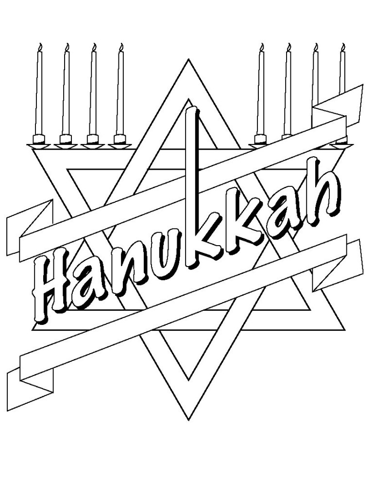 Hanukkah Printable Coloring Pages