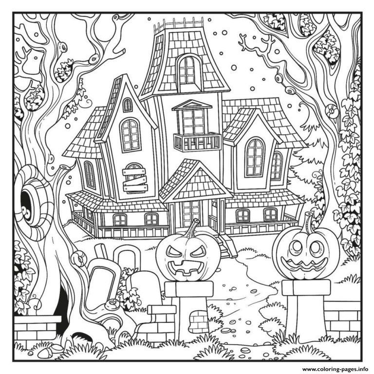 Haunted House Coloring Picture