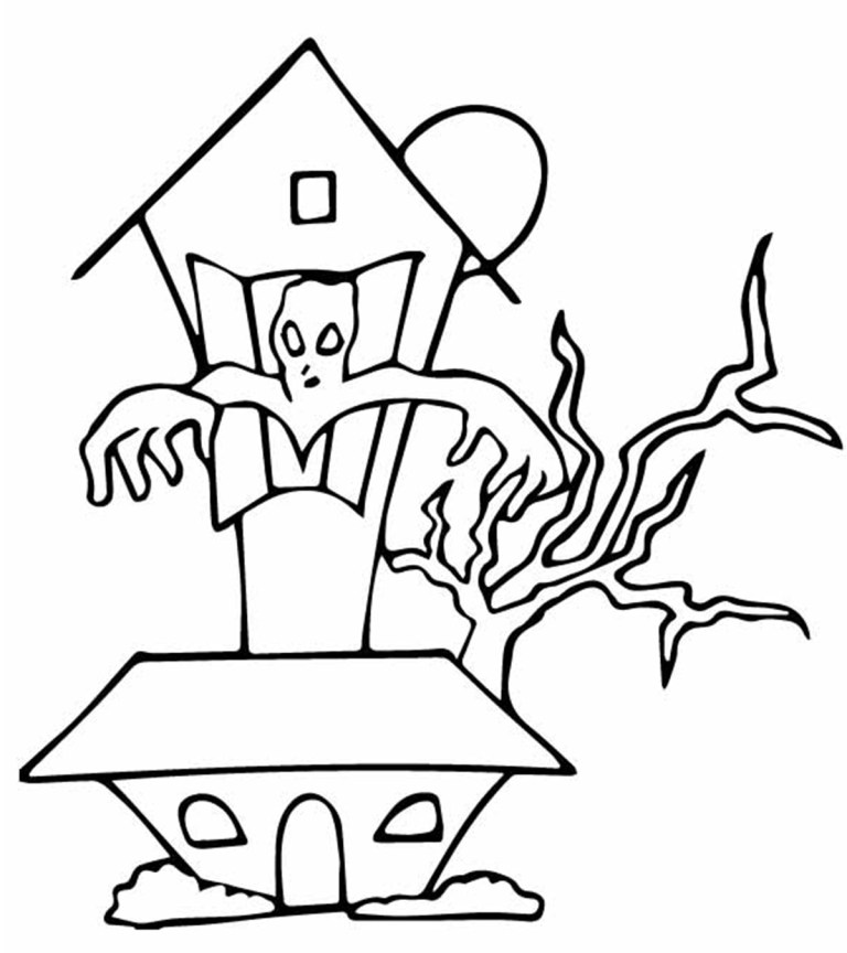 Haunted House Colouring Pictures